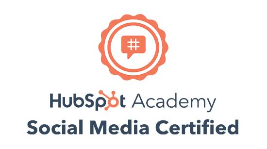 Hubspot Social Media Certification Logo